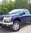 gmc canyon 2012 blue sle 1 gasoline 5 cylinders 4 wheel drive not specified 44024