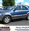 kia sorento 2004 dk  blue suv ex 4x4 gasoline 6 cylinders 4 wheel drive automatic with overdrive 45840