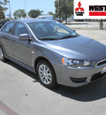 mitsubishi lancer 2010 gray sedan es gasoline 4 cylinders front wheel drive automatic 78238