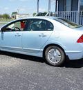 honda civic 2008 lt  blue sedan hybrid hybrid 4 cylinders front wheel drive automatic 47172