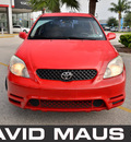 toyota matrix 2004 red hatchback xr gasoline 4 cylinders front wheel drive automatic 32771