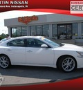 nissan maxima 2009 white sedan gasoline 6 cylinders front wheel drive not specified 46219