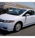 honda civic 2009 white sedan hybrid w navi hybrid 4 cylinders front wheel drive cont  variable trans  91761