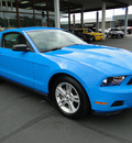 ford mustang 2010 blue coupe base gasoline 6 cylinders rear wheel drive 5 speed manual 98032