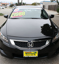 honda accord 2008 black coupe exl gasoline 4 cylinders front wheel drive automatic 93955