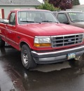 ford f 150 1992 red pickup truck gasoline 8 cylinders rear wheel drive 5 speed manual 97216