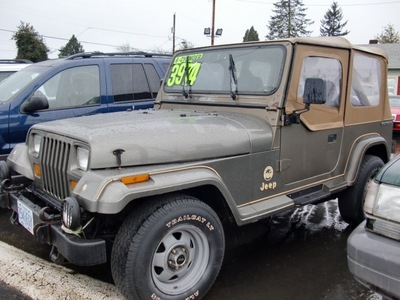 jeep wrangler 1988 green sahara gasoline 6 cylinders 4 wheel drive automatic 97216