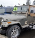 jeep wrangler 1988 green sahara gasoline 6 cylinders 4 wheel drive automatic 97216