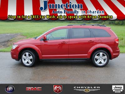 dodge journey 2009 red suv sxt gasoline 6 cylinders all whee drive 6 speed automatic 44024