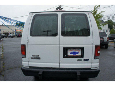 ford econoline cargo 2010 white van e 250 flex fuel 8 cylinders rear wheel drive automatic 07507