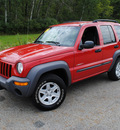 jeep liberty 2004 red suv sport gasoline 6 cylinders 4 wheel drive not specified 44024