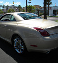 lexus sc 430 2008 gold gasoline 8 cylinders rear wheel drive automatic 92235