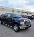 ford f 150 2011 dark blue pearl xlt 4x4 gasoline 6 cylinders 4 wheel drive automatic with overdrive 60546