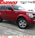 dodge nitro 2007 red 4x4 slt gasoline 6 cylinders 4 wheel drive automatic 45840