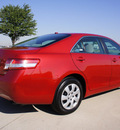 toyota camry 2011 red sedan le gasoline 4 cylinders front wheel drive automatic 76018