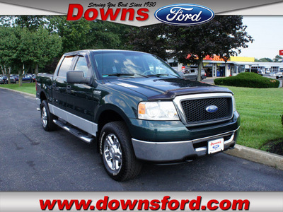 ford f 150 2006 green xlt gasoline 8 cylinders 4 wheel drive automatic with overdrive 08753