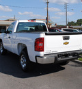 chevrolet silverado 1500 2010 white work truck gasoline 6 cylinders 2 wheel drive automatic 27591