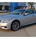 infiniti g37 2008 silver coupe sport gasoline 6 cylinders rear wheel drive autostick 77065