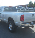 dodge ram 2500 2007 silver slt gasoline 8 cylinders 4 wheel drive automatic with overdrive 99212