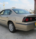 chevrolet impala 2005 tan sedan gasoline 6 cylinders front wheel drive automatic 77037