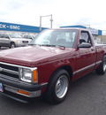 chevrolet s 10 1992 dk red pickup truck gasoline v8 rear wheel drive 5 speed manual 98632