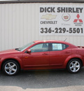 dodge avenger 2008 red sedan r t gasoline 6 cylinders front wheel drive automatic 27215