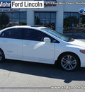honda civic 2007 white sedan si w navi gasoline 4 cylinders front wheel drive 6 speed manual 46168