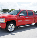 chevrolet silverado 1500 2011 red lt flex fuel 8 cylinders 2 wheel drive 6 spd auto texas ed lpo,b 77090