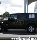 jeep wrangler unlimited 2008 black suv x gasoline 6 cylinders 2 wheel drive automatic 33912