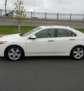 acura tsx 2009 white sedan base gasoline 4 cylinders front wheel drive shiftable automatic 55420