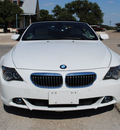 bmw 6 series 2007 white 650i gasoline 8 cylinders rear wheel drive automatic 76087