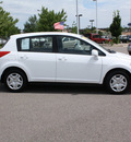 nissan versa 2010 white hatchback gasoline 4 cylinders front wheel drive automatic with overdrive 80126