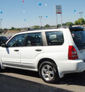 subaru forester 2003 white wagon xs gasoline 4 cylinders all whee drive 5 speed manual 99301