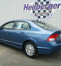 honda civic 2009 atomic blue sedan hybrid hybrid 4 cylinders front wheel drive automatic 80905