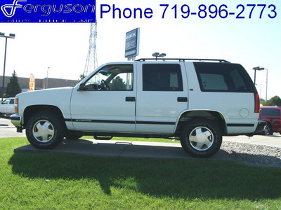chevrolet tahoe 1999 white suv lt gasoline v8 4 wheel drive automatic 80910