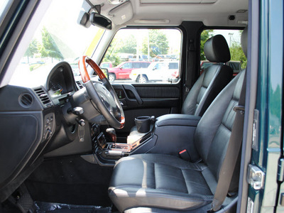 mercedes benz g class 2003 dk  green suv g500 gasoline 8 cylinders all whee drive automatic 27616
