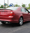 ford fusion 2011 red sedan sport gasoline 6 cylinders front wheel drive automatic 47172