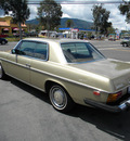 mercedes benz 280c 1974 gold coupe 6 cylinders automatic 92882