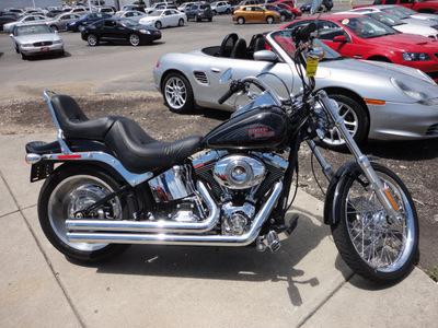 harley davidson fxstc 2008 black softail custom 2 cylinders 6 speed 45342