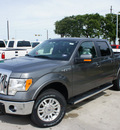 ford f 150 2011 gray lariat flex fuel 8 cylinders 4 wheel drive automatic 76205