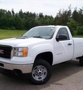 gmc sierra 2500hd 2011 white work truck gasoline 8 cylinders 4 wheel drive not specified 44024