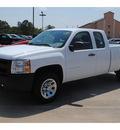 chevrolet silverado 1500 2011 white pickup truck work truck flex fuel 8 cylinders 2 wheel drive 4 spd auto,elec cntlled 77090