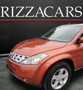nissan murano 2005 orange suv sl awd gasoline 6 cylinders all whee drive automatic with overdrive 60546