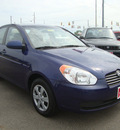 hyundai accent 2009 dk  blue sedan gls gasoline 4 cylinders front wheel drive automatic 45342