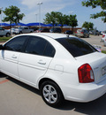 hyundai accent 2009 white sedan gls gasoline 4 cylinders front wheel drive automatic 76205