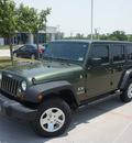 jeep wrangler unlimited 2008 green suv x gasoline 6 cylinders 4 wheel drive automatic 76205