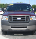 ford f 150 2006 maroon pickup truck xl gasoline 6 cylinders rear wheel drive 5 speed manual 33884