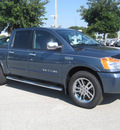 nissan titan 2011 blue steel sl flex fuel 8 cylinders 2 wheel drive automatic 33884