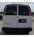 chevrolet express cargo 2011 white van 3500 flex fuel 8 cylinders rear wheel drive 6 spd auto,hd,elec cntll 77090