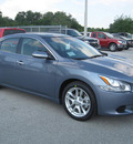nissan maxima 2011 ocean gray sedan sv gasoline 6 cylinders front wheel drive automatic 33884